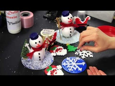 Video Tutorial Fiocco di neve Pyssla Hama beads Idea decorazione albero di natale Christmas Tree