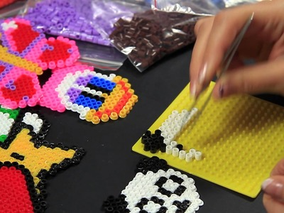 - Video Tutorial - Panda - Hama Beads Pyssla Perline Midi a termofusione