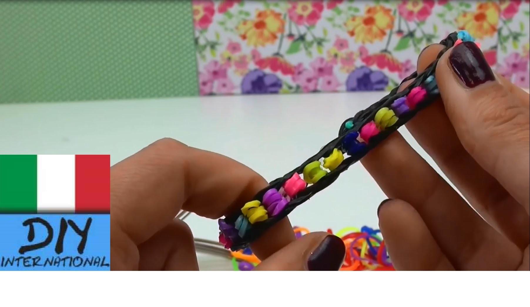 Come realizzare un braccialetto con perline loom con due forchette
