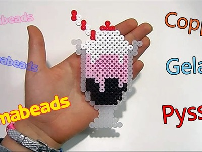 Coppa Gelato con Pyssla. Hama Beads Ice Cream Sundae Perler Bead Tutorial