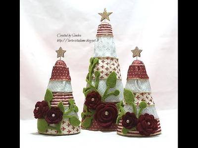 Albero di natale fatto a mano - Tutorial - (polistirolo e pannolenci) - Natale fai da te
