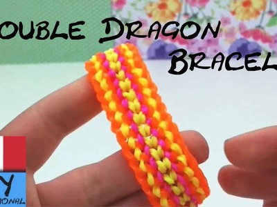 Braccialetti con elastici DOUBLE DRAGON in Italinao Come Fare una Bracciale Drago con la forcella