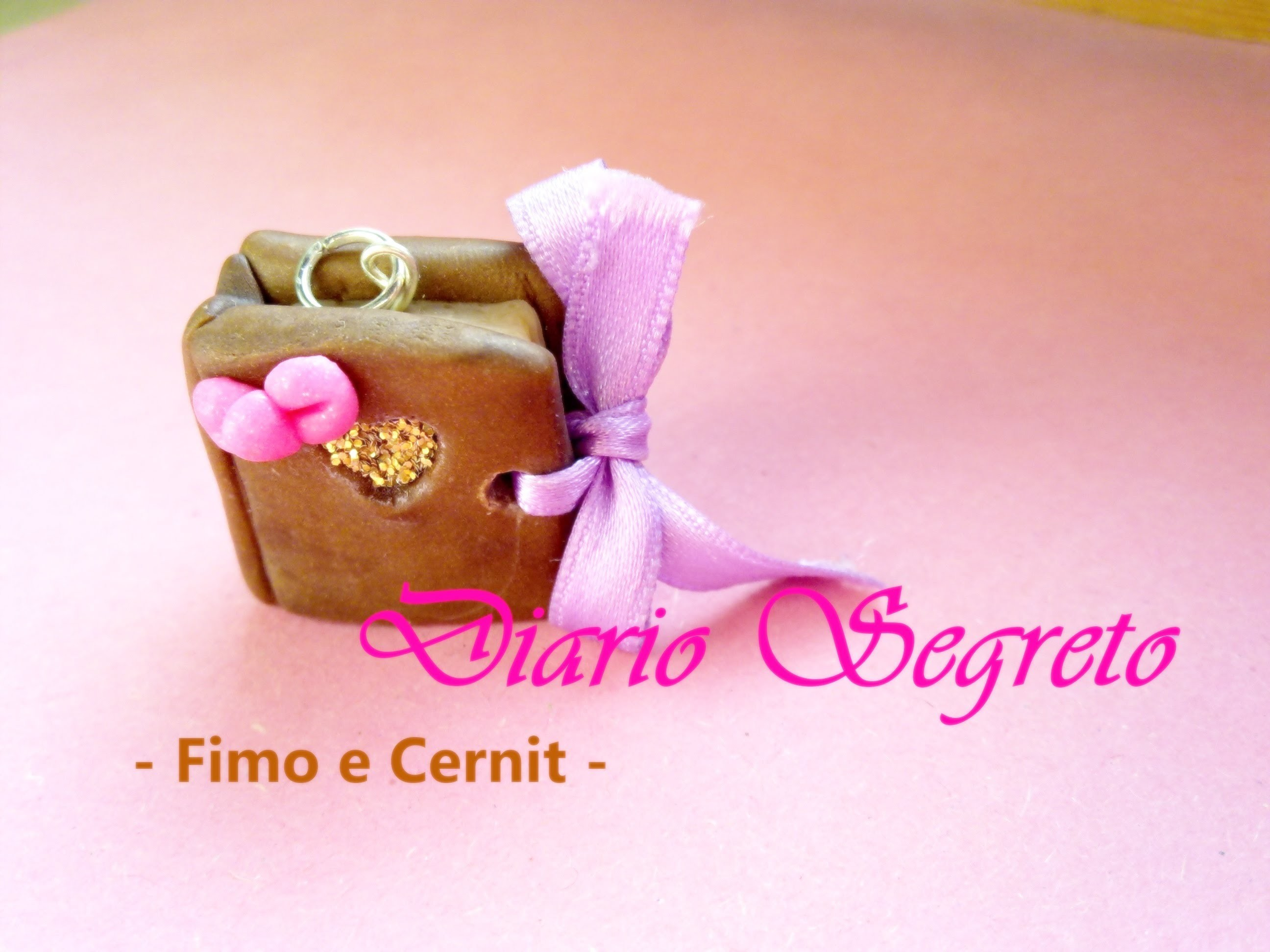 Diario Segreto: Charm in Fimo e Cernit (Secret Diary Charm: Polymer Clay Tutorial) ◦°°◦˚♥