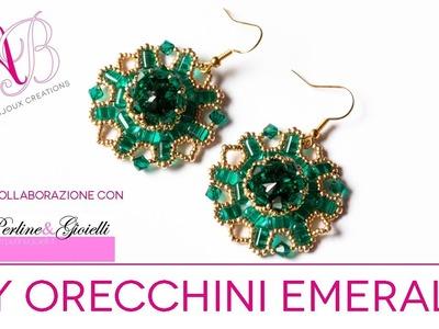 DIY Tutorial | Orecchini Emerald in collaborazione con Perline & Gioielli