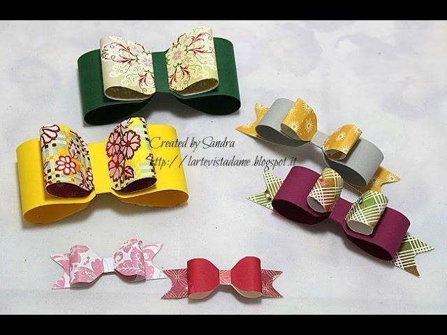 Fiocchi di carta fai da te con Envelope punch board-Paper bow Tutorial-Packaging-Scrap tutorial
