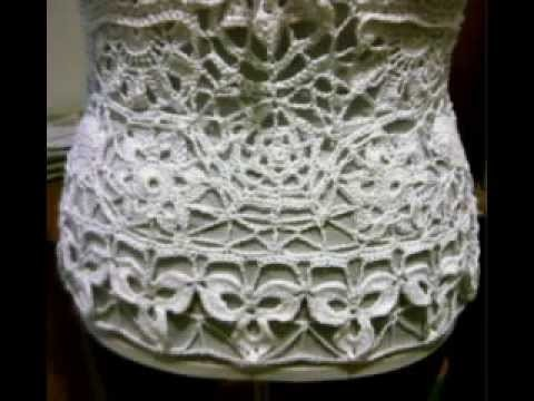 MD-LdG Bikini Top all'uncinetto in cotone 2013 (irish crochet) - Haekel-Bikinitop in Baumwolle