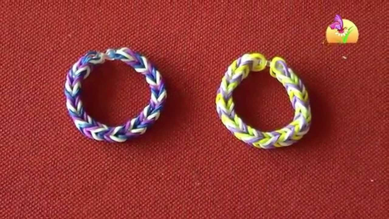 Realizzare braccialetti con gli elastici [HD] www.mammaebambini.it