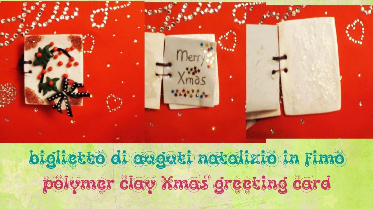 TUTORIAL FIMO #10: biglietto di auguri natalizio ❆ Polymer Clay Xmas greeting card