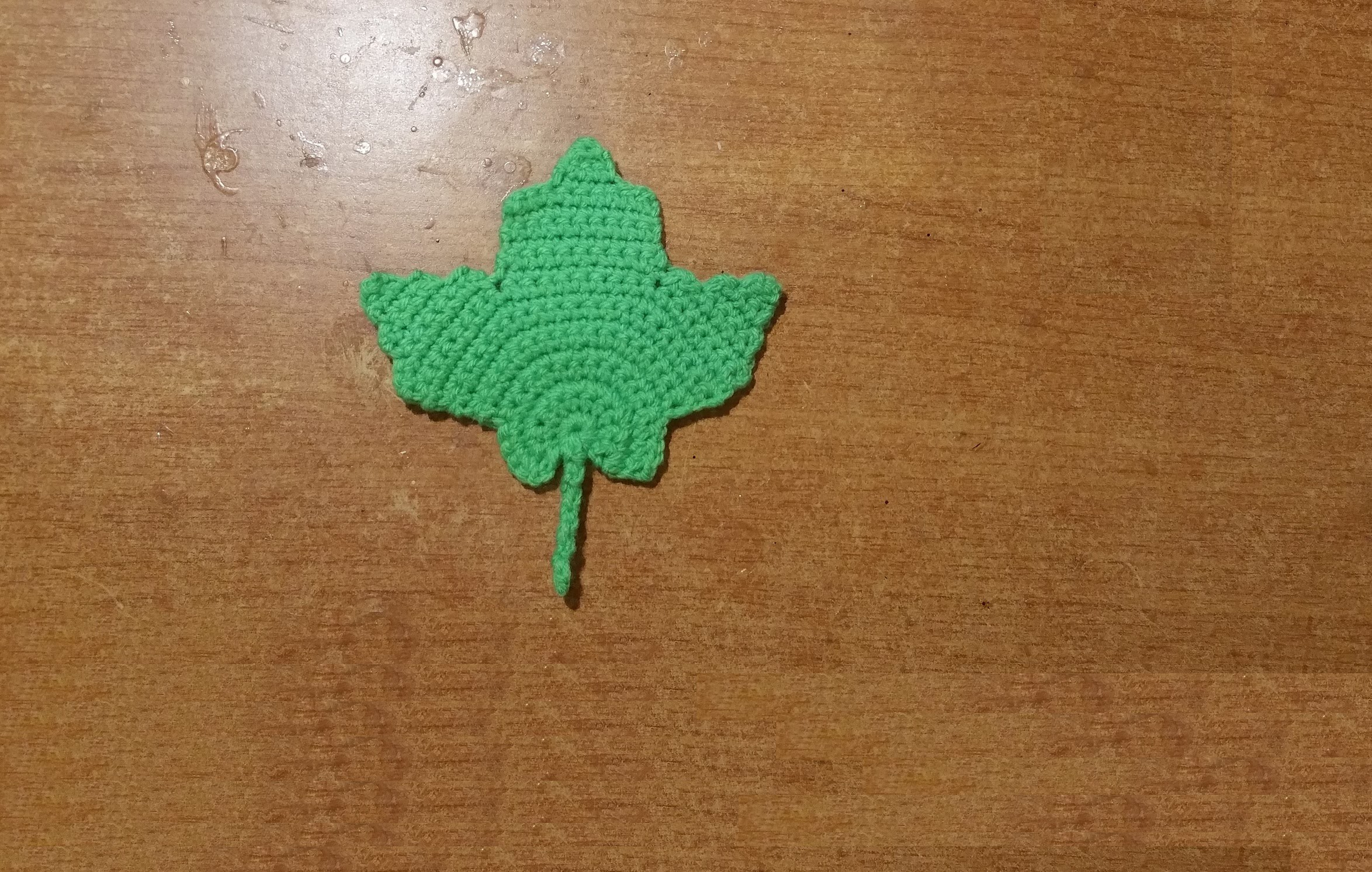 Tutorial foglia all'uncinetto - hoja crochet - crochet leaf