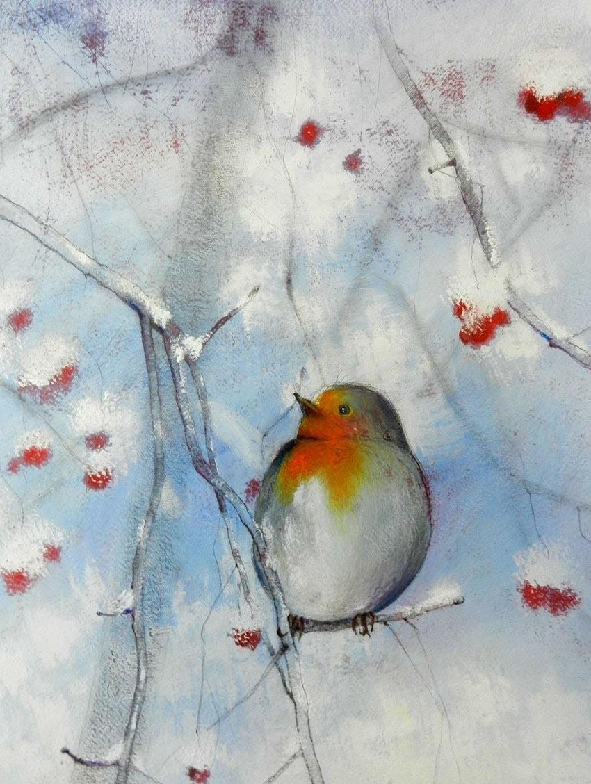 Tutorial Inverno 01 - come realizzare un dipinto con le tempere