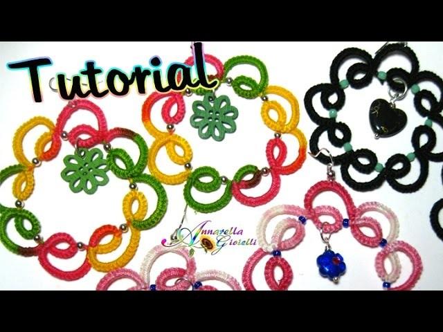 Tutorial orecchini chiacchierino con perline | How to tatting earrings