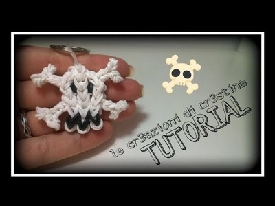 Tutorial Teschio con Elastici RAINBOW LOOM - DIY Charm Halloween Skull Skeleton