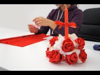 Lavoretto per Natale: come realizzare un centrotavola portacandela