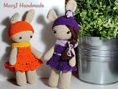 Tutorial: bambolina. coniglietto amigurumi