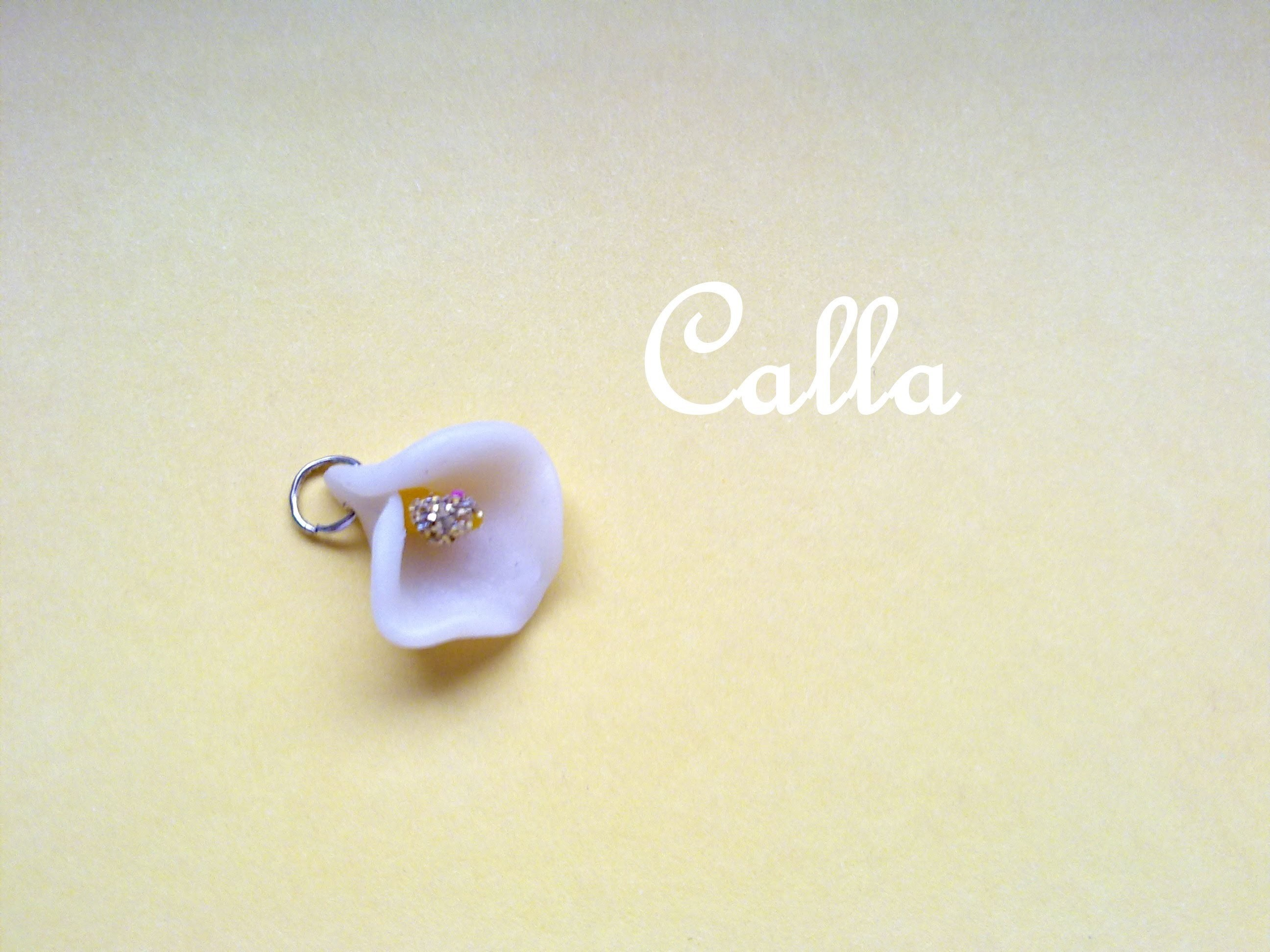 Calla ❀ Polymer Clay Tutorial - Charm Realistico + Glitter