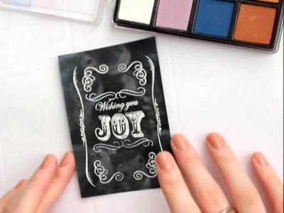 Chalkboard Art Card (Tutorial)