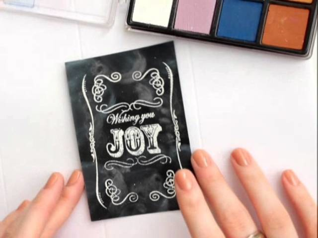 Chalkboard Art Card (Tutorial)