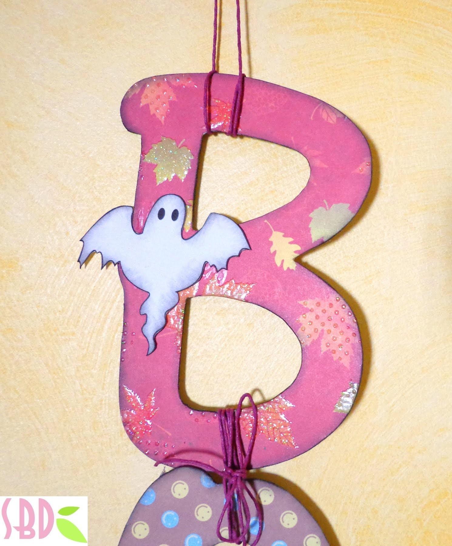 Halloween: Decorazione da parete Boo! - Boo wall decoration