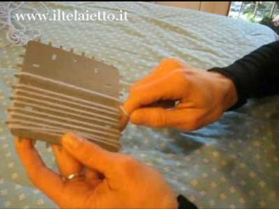 Telaietto quadrato in metallo - preparazione della base
