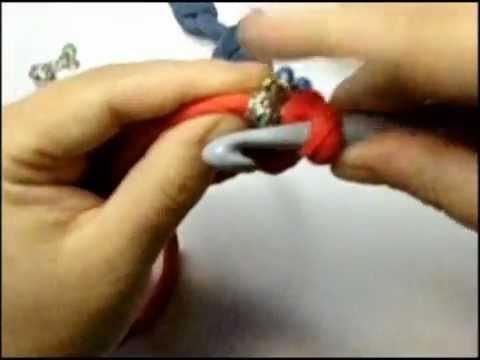 Bracciale a uncinetto con fettuccia tutorial
