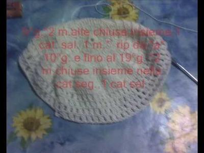 Cappello bianco di cotone