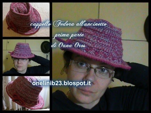 Cappello Fedora all'uncinetto prima parte