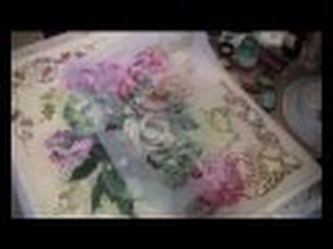 Decoupage  quadro con pittorico e pasta gel lucida