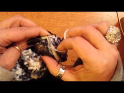 Diminuzioni e chiusura di un cappello a punto riso - Tutorial maglia ai ferri