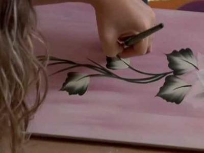 One Stroke Painting - Agrifoglio e Aghi di Pino di Marzia Di Somma