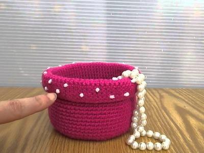 Porta bijoux realizzato a uncinetto con tecnica amigurumi. Coccinelle creative top quality.