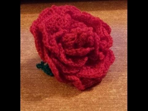 Rosa all'uncinetto a 18 petali separati - tutorial fiori uncinetto