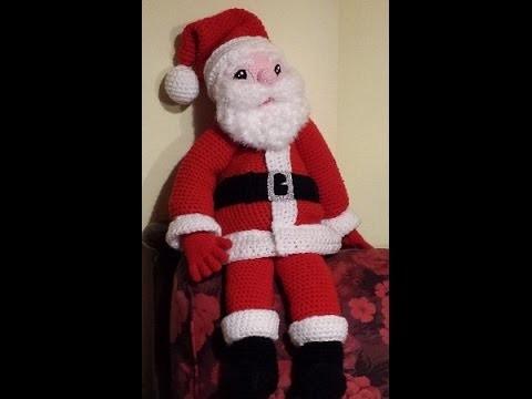 Tutorial Babbo Natale all'uncinetto  amigurumi IV parte  - Santa Claus Crochet - Papá Noel crochet