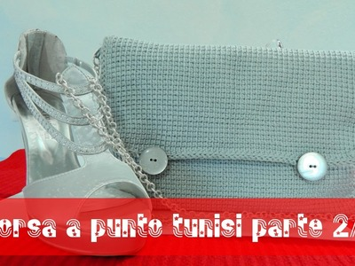 Tutorial borsa a uncinetto punto tunisi 2.2 | Tunisian stitch bag tutorial