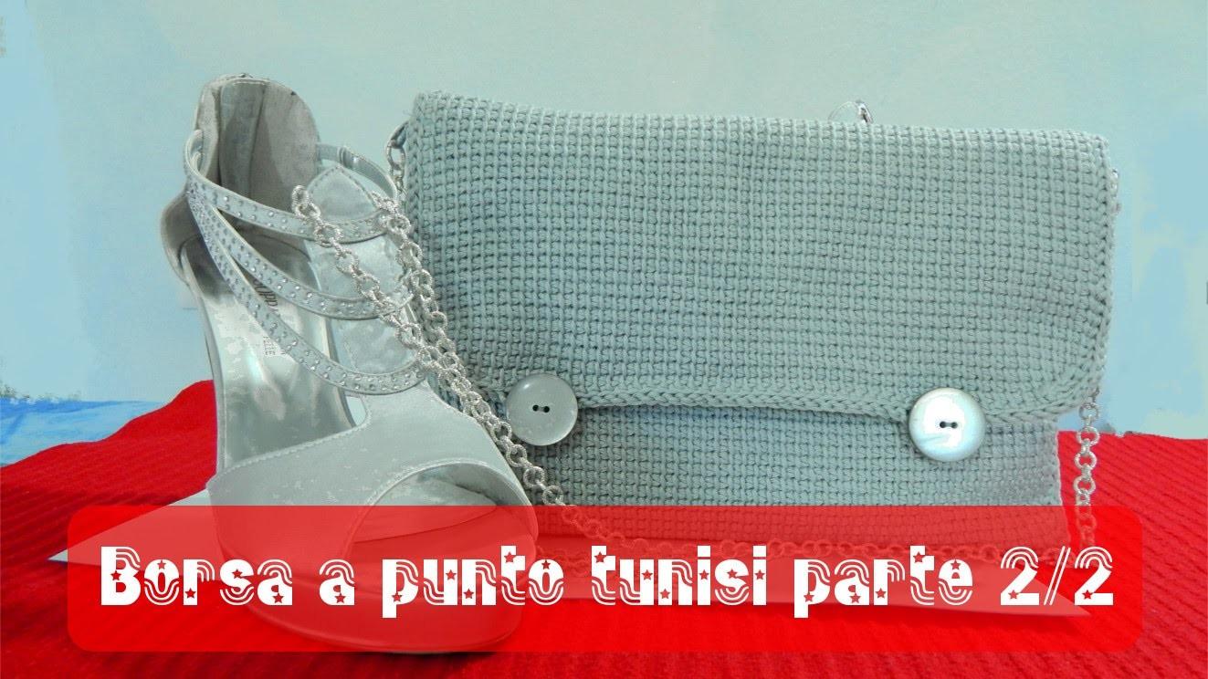 Tutorial borsa a uncinetto punto tunisi 2.2 | Tunisian stitch bag tutorial