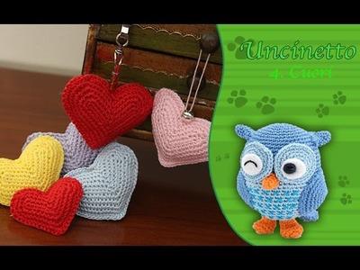 Uncinetto amigurumi 4: Cuori per bomboniere e per San Valentino
