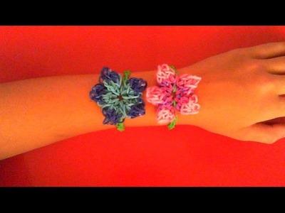 Tutorial! Braccialetto con fiore fatto con i rainbow loom bands! [[Spiegazione in Italiano]]