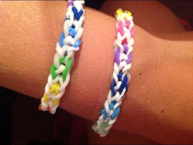 Tutorial: braccialetto rainbow loom bands a spina di pesce invertita *---* [SPIEGAZIONE IN ITALIANO]