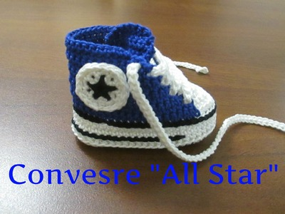 "Tutorial Uncinetto Scarpine Bebe'   Converse "" All Star""  I Parte"