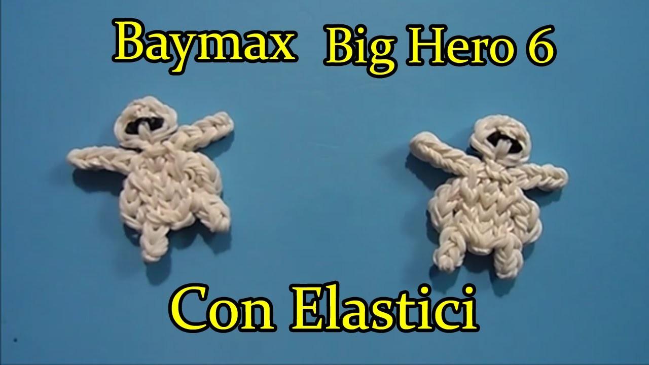 ♥ BAYMAX. Big Hero 6 Con Elastici Rainbow Loom Tutorial ♥