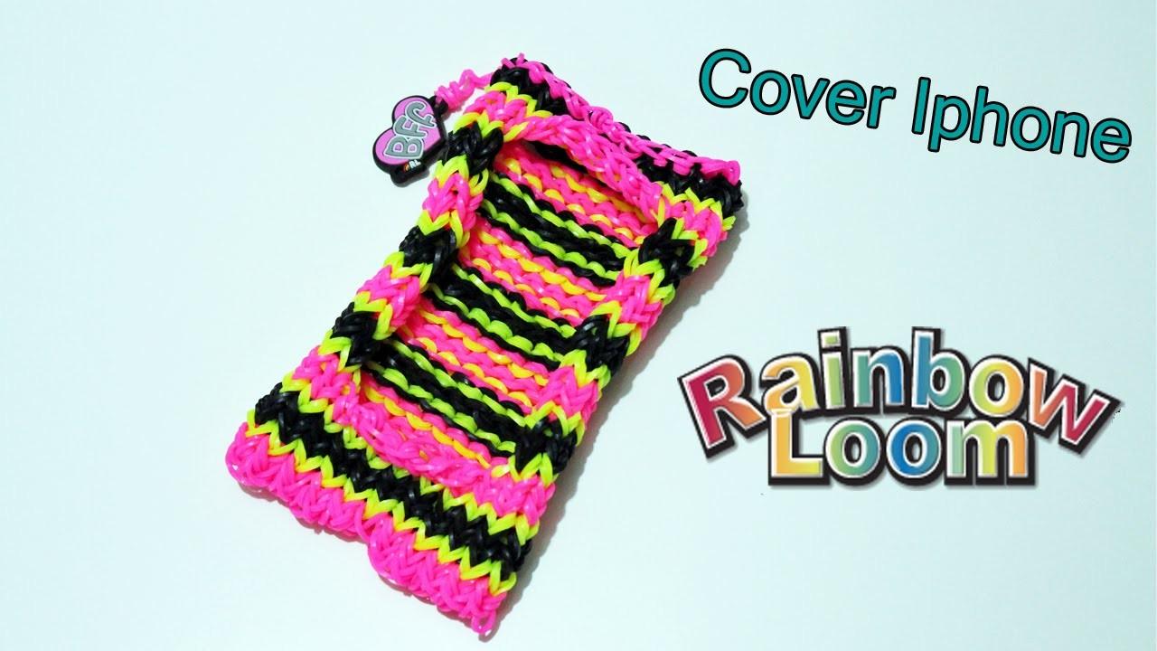Phone Cover Iphone con Elastici Rainbow Loom ( Compatibile con tutti iPhone ) Tutorial
