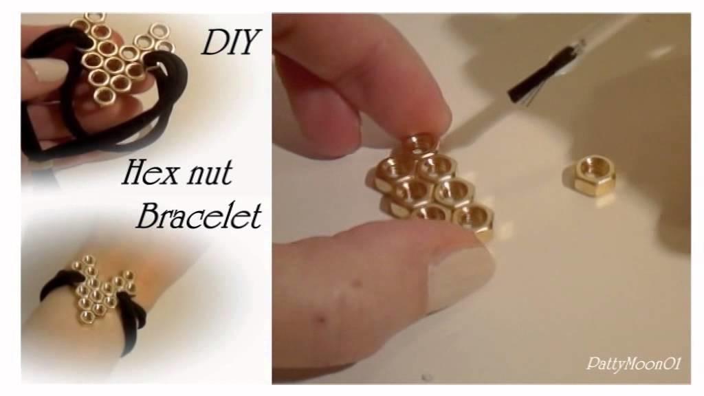 DIY Bracciale cuore con dadi esagonali