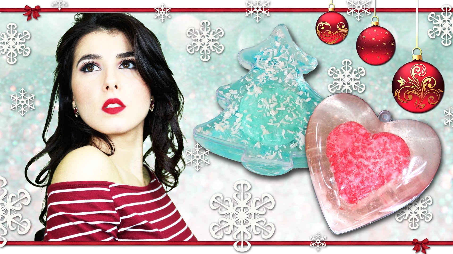 Fizzy Soap Christmas DIY • Saponi effervescenti per Natale • Last minute gifts idea • Marisa'Style