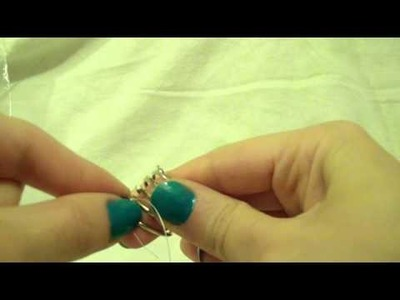 TUTORIAL ANELLO FACILE E VELOCE(tutorial easy and fast ring)