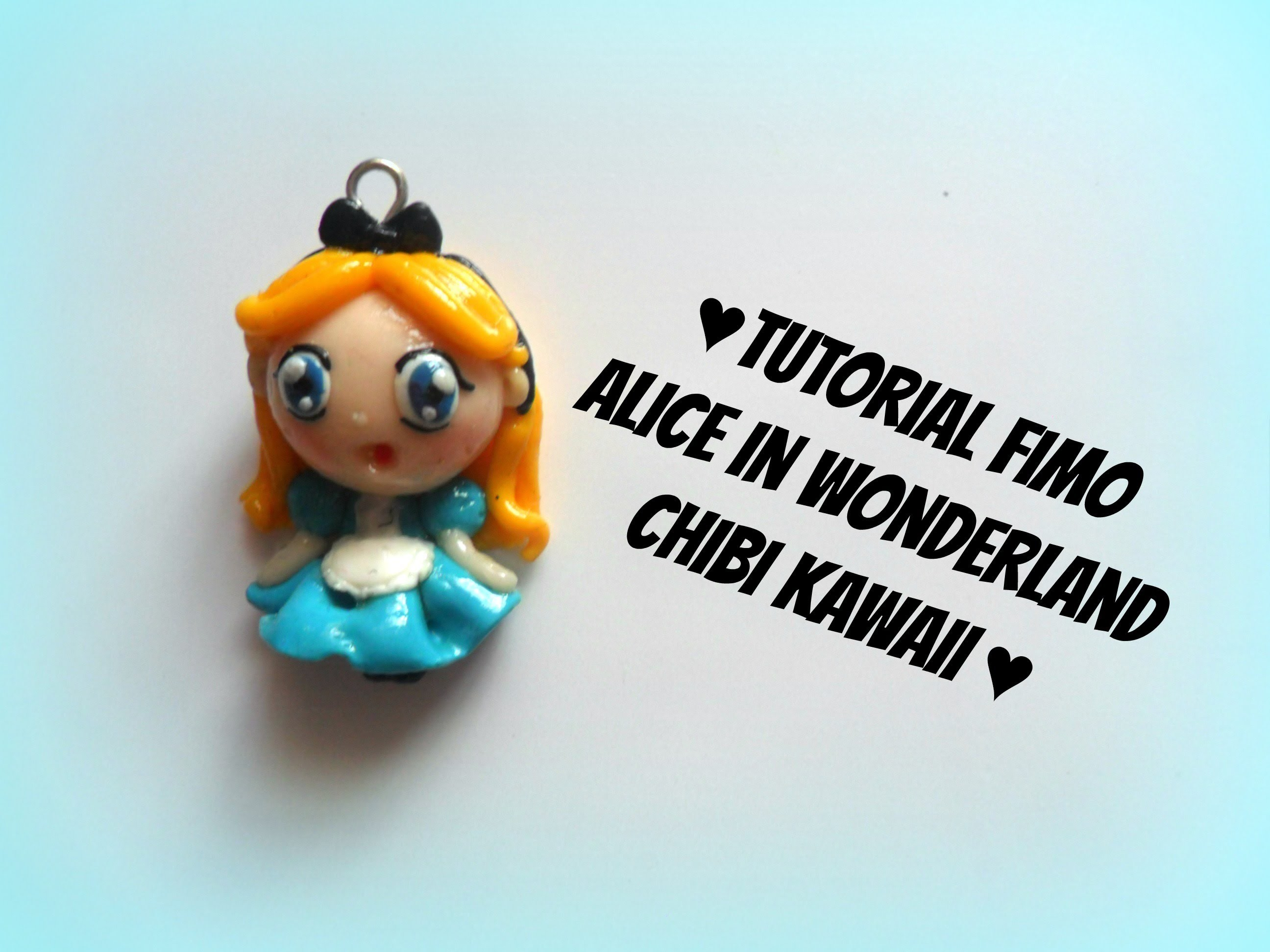 Alice in wonderland chibi kawaii fimo tutorial