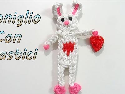 "Coniglio Con Elastici Rainbow Loom Pasqua.San Valentino  ""Bunny.Rabbit Valentines Day Loom  """