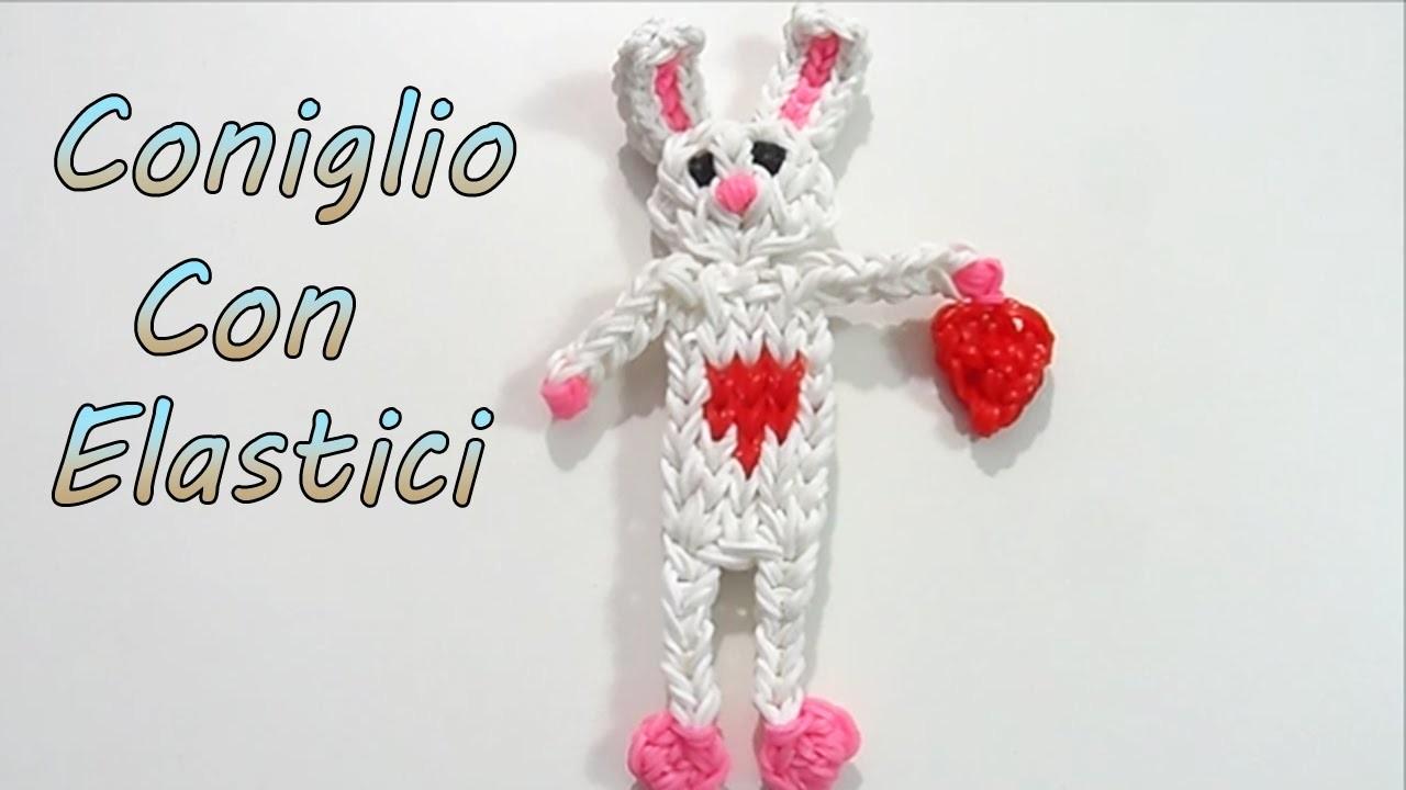 Coniglio Con Elastici Rainbow Loom Pasqua.San Valentino