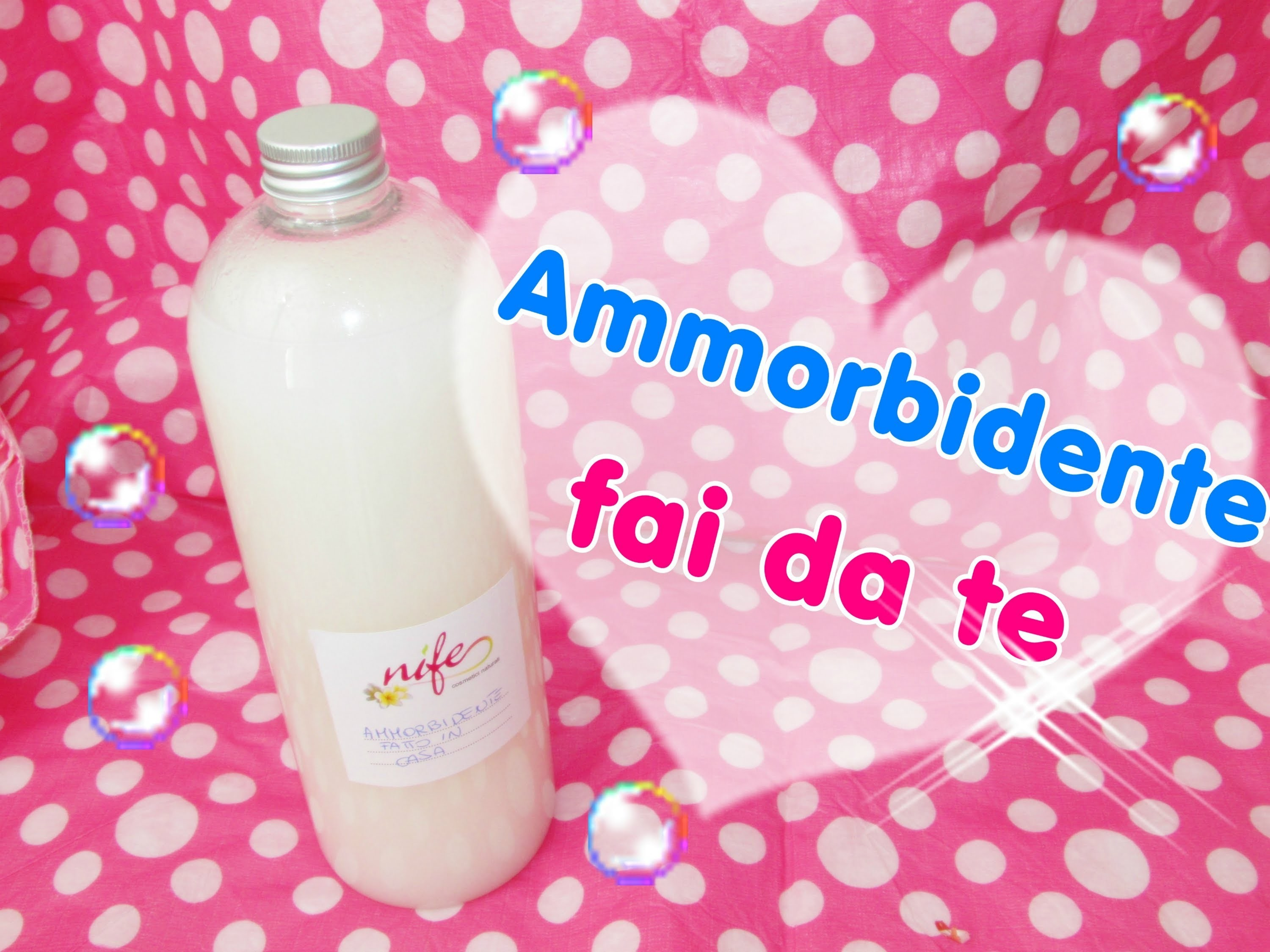 AMMORBIDENTE FATTO IN CASA CON 3 SEMPLICI INGREDIENTI!! DIY fabric softener