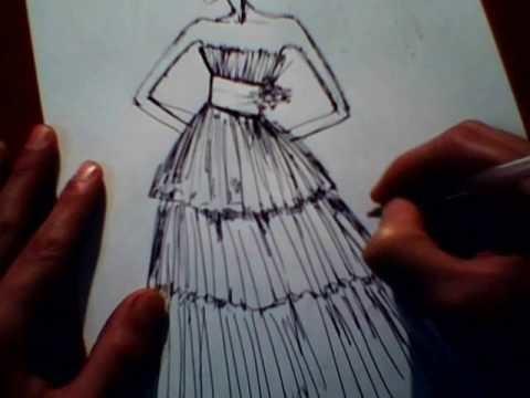 Come Disegnare un Abito da Sposa . Pagina Facebook Fabrizio Crispino Fashion Stylist