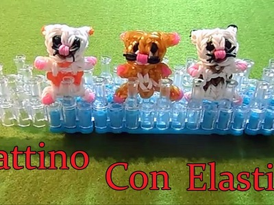 ♥ GATTINO CON  ELASTICI RAINBOW LOOM TUTORIAL ! ♥
