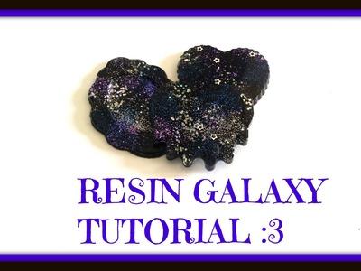 Glitter Galaxy - resin charms tutorial